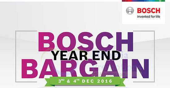 Featured image for Bosch Year End Bargain event featuring up to 70% off at The School Jaya One from 3 - 4 Dec 2016