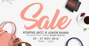 Featured image for Celebrity Wearhouz luxury designer handbags sale at Komtar JBCC Johor Bahru from 24 – 27 Nov 2016