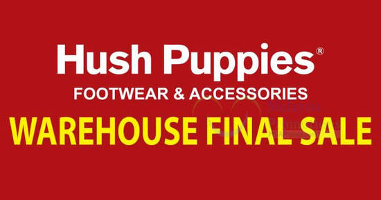 Featured image for Hush Puppies warehouse sale at Shah Alam offers up to 80% off discounts from 30 Nov - 4 Dec 2016