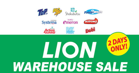 Featured image for LION (Fresh & White, Systema, Top, etc) Warehouse Sale at Kuala Lumpur from 2 - 3 Dec 2016