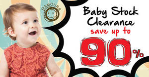 Featured image for Mamours Baby Stock Clearance (Up to 90% Off) at 1 Utama from 18 – 20 Nov 2016