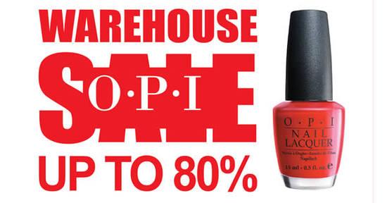 OPI Warehouse Sale Feat 9 Nov 2016
