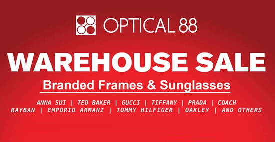 Featured image for Optical 88's warehouse features discounts of up to 60% off at Puchong from 24 - 27 Nov 2016