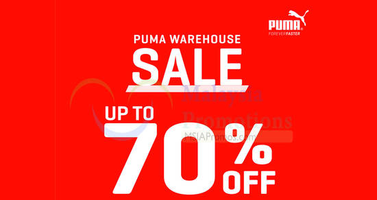 Featured image for PUMA warehouse sale offers discounts of up to 70% off at Shah Alam from 1 - 4 Dec 2016