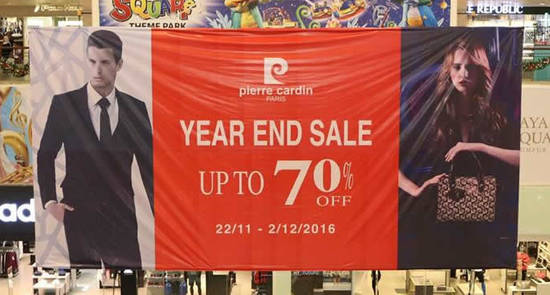 Featured image for Pierre Cardin year end sale at Berjaya Times Square from 22 Nov - 2 Dec 2016