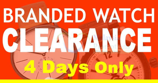 Featured image for Time Galerie branded watch warehouse clearance at Kuala Lumpur from 1 - 4 Dec 2016