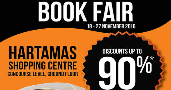 Featured image for Times Bookstores: Book Fair at Hartamas Shopping Centre from 18 - 27 Nov 2016