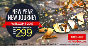 Featured image for Grab a vacation from RM299/pax (Return flights + 2N stay + Tax) with Air Asia Go's promo packages from 19 Dec 2016 – 8 Jan 2017