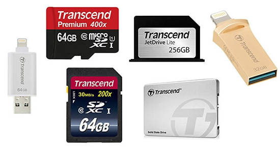 Featured image for Save on selected Transcend memory cards, flash drives, SSD & more with Amazon's 24hr deal from 29 - 30 Dec 2016