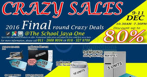 Featured image for Desa Home Theatre crazy sale at The School Jaya One from 8 – 11 Dec 2016