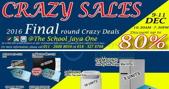 Featured image for Desa Home Theatre crazy sale at The School Jaya One from 8 - 11 Dec 2016