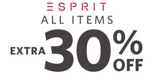 Esprit: 30% OFF regular-priced & sale items online promo! Ends 20 Feb 2019