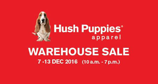 Featured image for Hush Puppies Apparel warehouse sale at Puchong from 7 - 13 Dec 2016