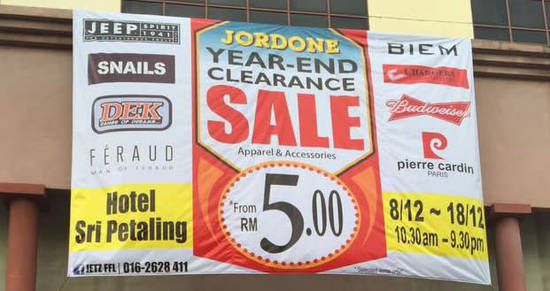 Featured image for Jetz warehouse sale at Hotel Sri Petaling from 8 - 18 Dec 2016