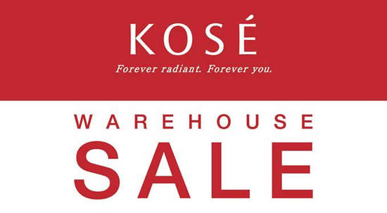Featured image for KOSÉ warehouse sale offers discounts of up to 70% off at Evolve Concept Mall from 2 - 3 Dec 2016