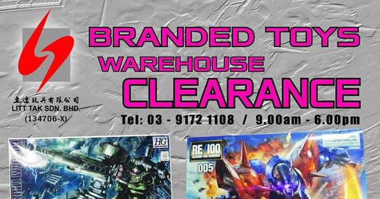 Featured image for Litt Tak branded toys warehouse clearance at Kuala Lumpur from 8 - 11 Dec 2016