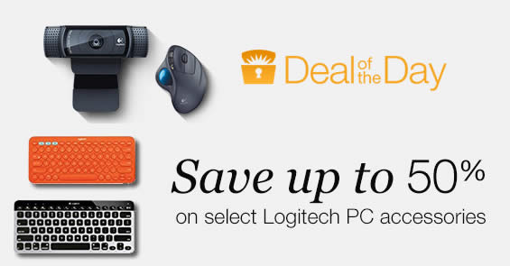 Logitech PC accessories are going at up to 50% off for 24hr