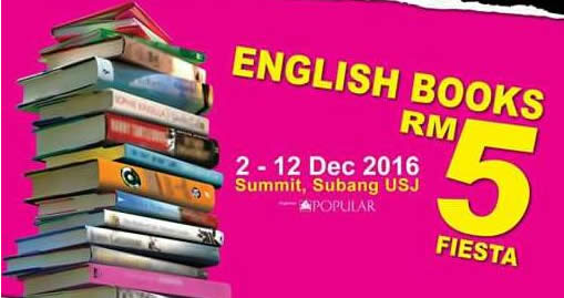 Popular Rm5 Fiesta English Books Fair At Summit Subang Usj From 2