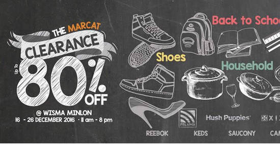 Featured image for The Marcat Warehouse Sale at Wisma Minlon from 16 - 26 Dec 2016