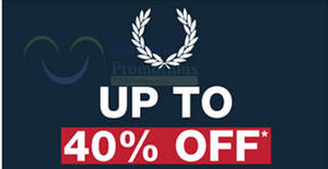 Featured image for Fred Perry up to 40% off clearance at The Gardens from 14 – 31 Jan 2017