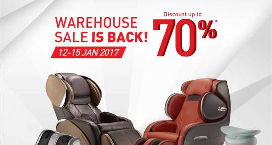 Featured image for OSIM warehouse sale offers up to 70% discounts at Petaling Jaya from 12 - 15 Jan 2017