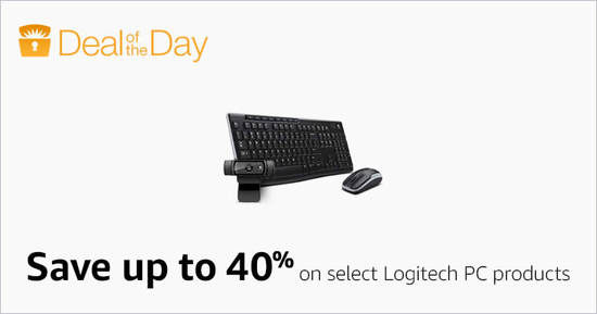 Featured image for Save up to 40% off selected Logitech products for 24hr only from 2 - 3 Feb 2017