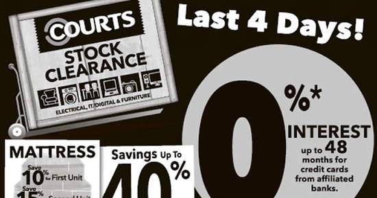 Featured image for Courts continues its Stock Clearance for four more days from 25 Feb 2017