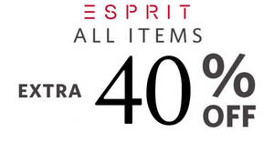 Esprit: FLASH sale – 40% OFF everything at online store! From 24 – 25 Apr 2018