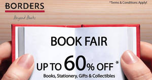 Featured image for BORDERS book fair offers up to 60% off at The Curve from 7 – 16 Mar 2017
