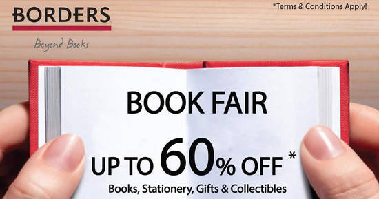 Featured image for BORDERS book fair offers up to 60% off at The Curve from 7 - 16 Mar 2017