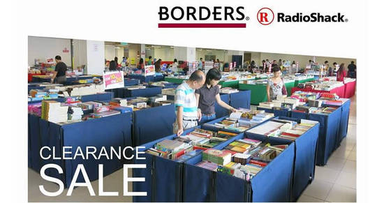 Featured image for Borders & RadioShack clearance sale at Pearl Point from 10 - 19 Mar 2017