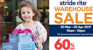 Featured image for Stride Rite Warehouse SALE at Summit Subang USJ from 30 Mar – 3 Apr 2017