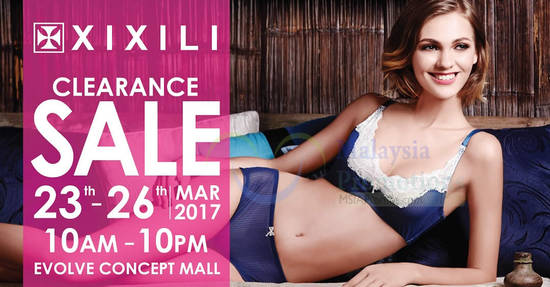 Featured image for XIXILI clearance sale at Evolve Concept Mall from 23 - 26 Mar 2017