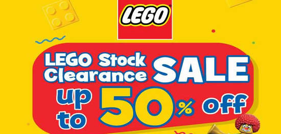 LEGO up to 50% off stock clearance sale at Pearl Point from 19 – 24 ...