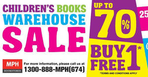 Featured image for MPH Children's Books Warehouse SALE at The School, Jaya One from 25 Apr – 1 May 2017