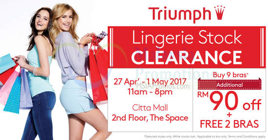 Triumph Stock Clearance 19 Apr 2017