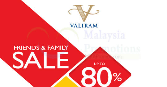 Featured image for Valiram Friends & Family Sale at Kuala Lumpur from 14 - 16 Apr 2017