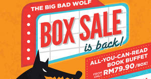 Featured image for Big Bad Wolf Books sale returns at Kuala Lumpur MIECC from 26 May – 4 Jun 2017