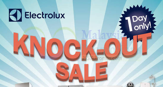 Featured image for Electrolux Knock-Out sale returns for one-day only on 11 Nov 2017