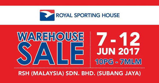 Featured image for Royal Sporting House warehouse sale is BACK! From 7 - 12 Jun 2017