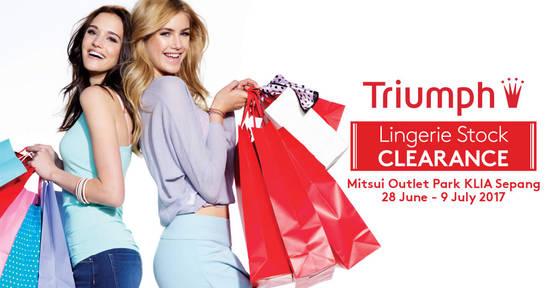 Triumph Stock Clearance 28 Jun 2017