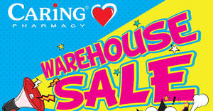 Featured image for Caring Pharmacy up to 70% off warehouse sale at Pearl Point! From 28 – 30 Jul 2017