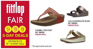 Featured image for Fitflop fair at Isetan KLCC from 14 – 16 Jul 2017