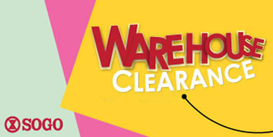 Featured image for SOGO Warehouse Clearance from 28 Jul - 6 Aug 2017
