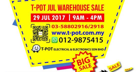 TPot warehouse sale 24 Jul 2017