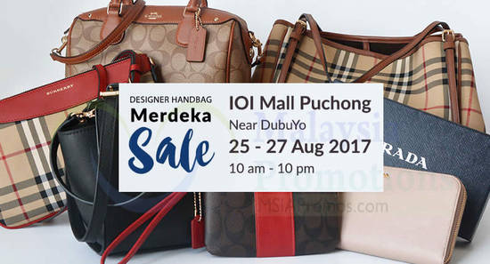 Featured image for Haute Style: Up To 50% off Designer Handbag Sale at IOI Mall Puchong! From 25 - 27 Aug 2017