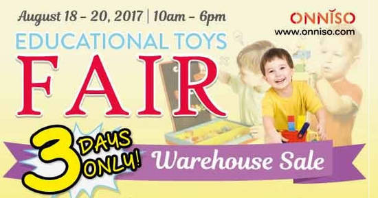 Featured image for Onniso educational toys warehouse sale at Kuala Lumpur! From 18 - 20 Aug 2017