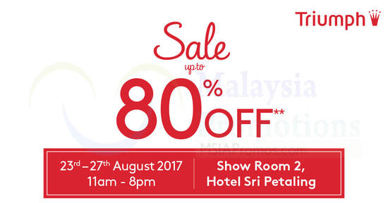 Triumph Stock Clearance feat 18 Aug 2017