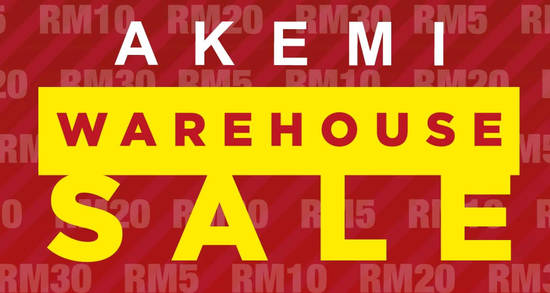 AKEMI Warehouse Sale feat 4 Sep 2017