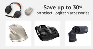Featured image for Amazon 24hr Deal: Up to 30% off select Logitech accessories! Ends 28 Sep 2017, 3pm